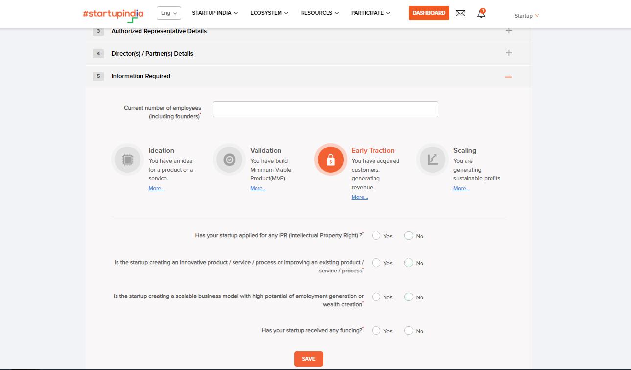 Startup DPIIT recognition-other startup details