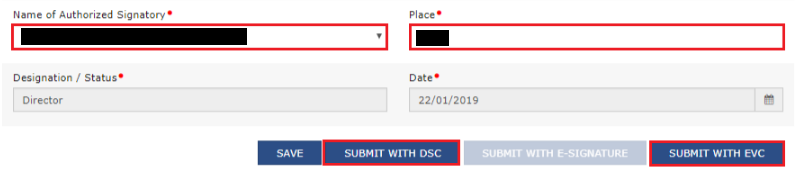 GST Portal - Application for Filing Clarification Page (2)