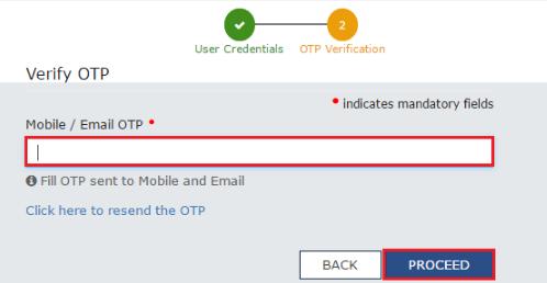 GST Registration - OTP Verification Page