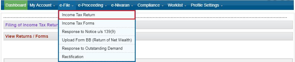 e-Verify ITR using DSC - Income Tax Return Option