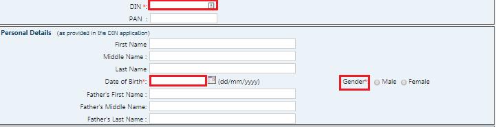 MCA Portal - Personal Details