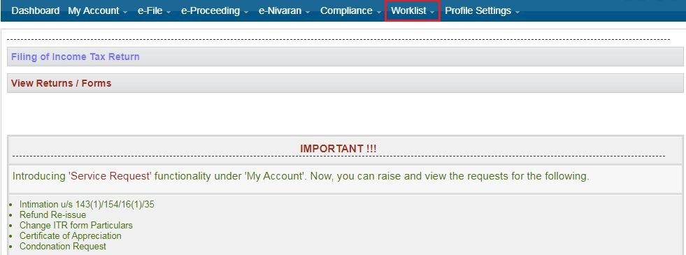 Approve / Reject Tax Audit Report - Navigate on Income Tax E-filing Portal