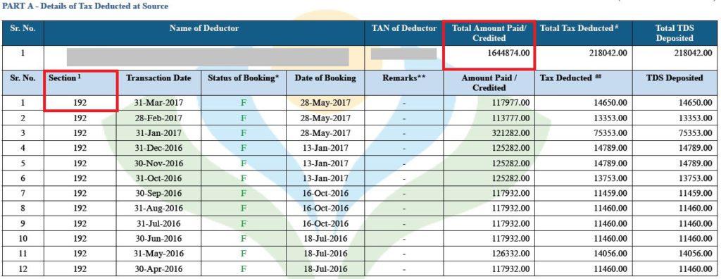 Notice sec 143(1)(a)(vi) - Form 26AS