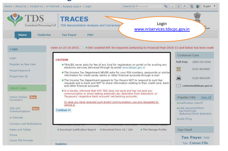 TRACES Homepage