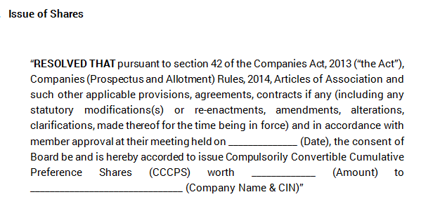 Extraordinary General Meeting - Approval of Issue of Shares
