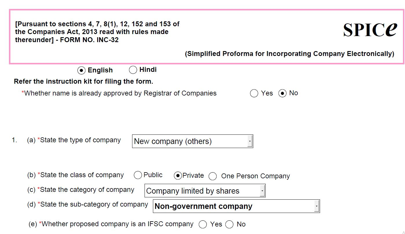 Form INC-9 Declaration by Subscribers First Directors_SPICe form INC-32