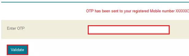 Reprint PAN - OTP Validation