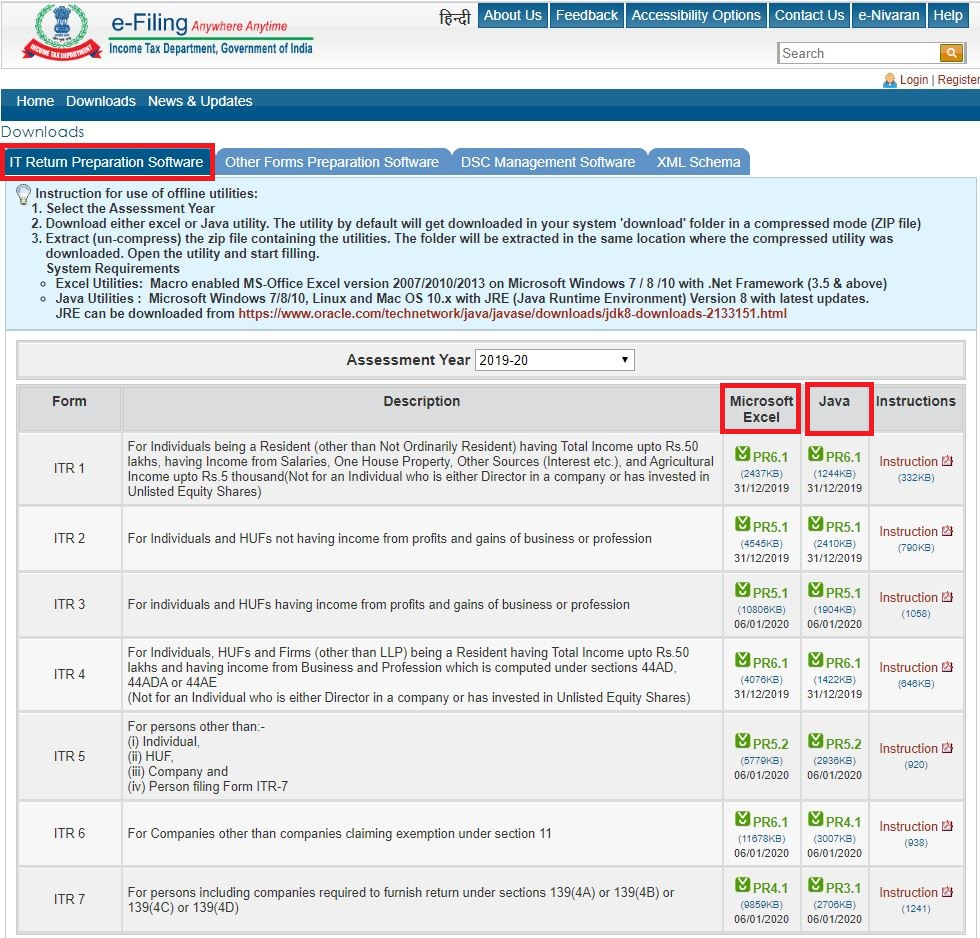 how to file belated return_IT Website_Download Utility