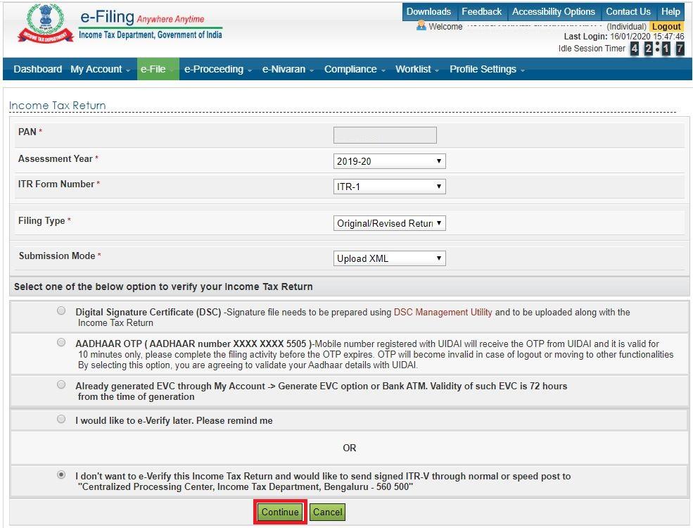 how to file belated return_IT Website_Enter ITR Details