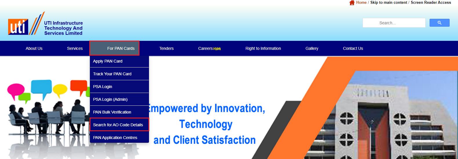UTIITSL - Homepage Dashboard