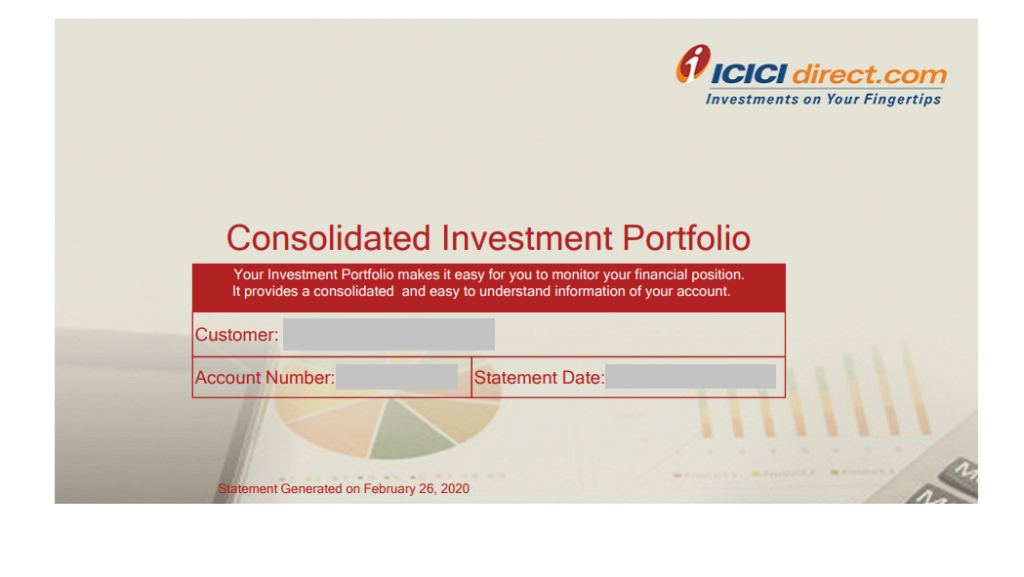 Profit and Loss Report from ICICI Direct