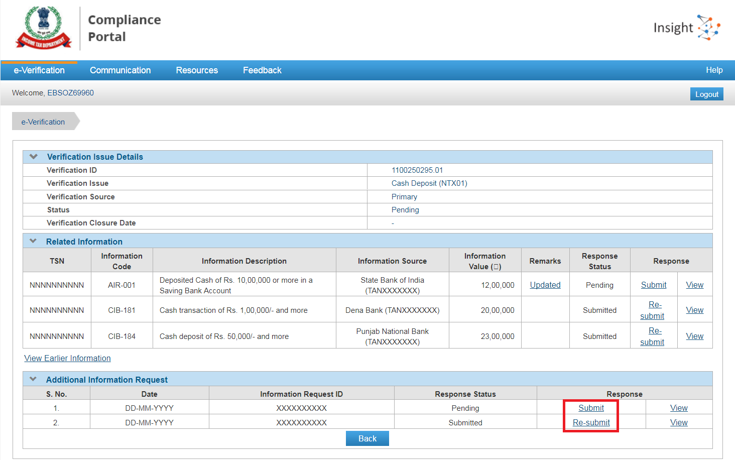additional queries compliance portal 3