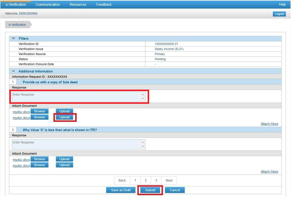 additional queries compliance portal 4